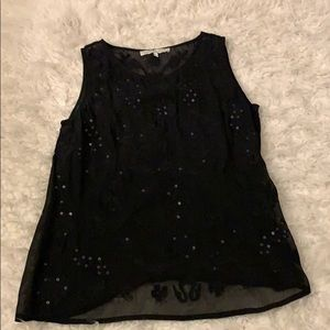 [SEARCH FOR SANITY] Black sequin sheer blouse